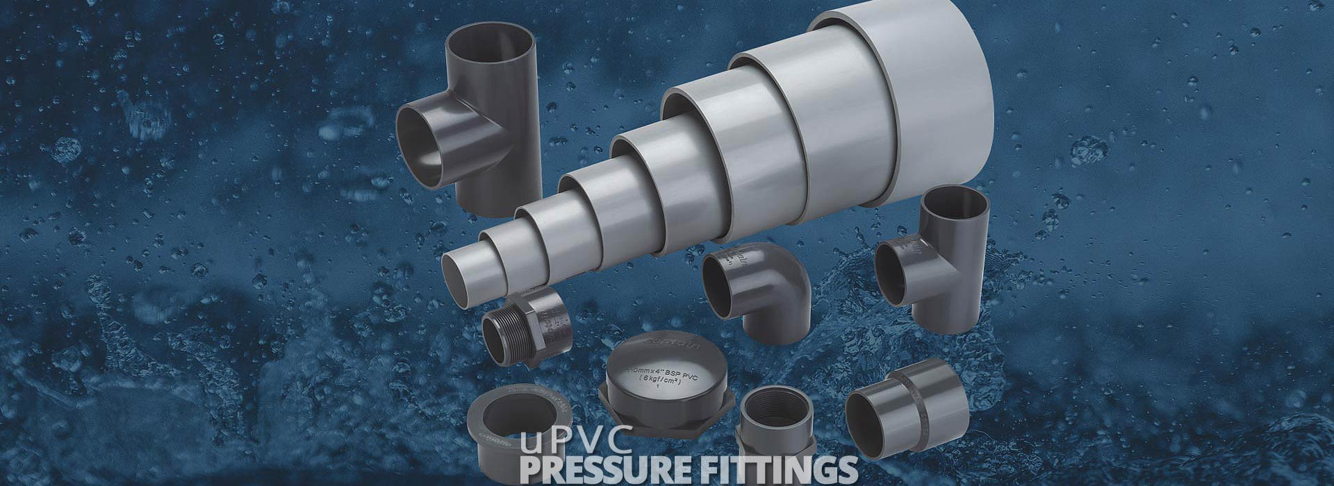 uPVC Pressure Pipes Fittings from Captain Pipes Ltd.