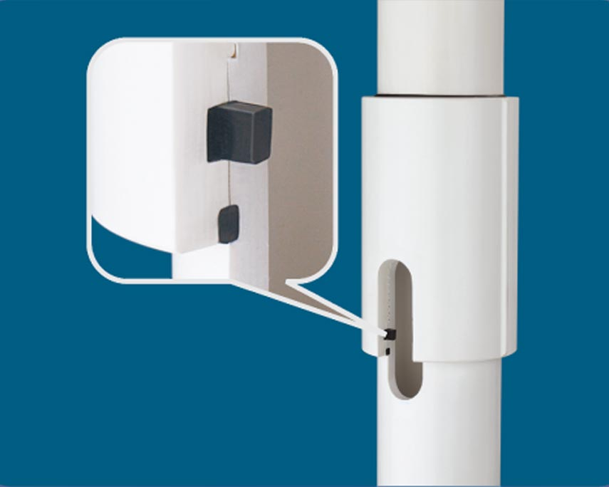 Captain uPVC Column Pipes - In-Built Automatic Locking System