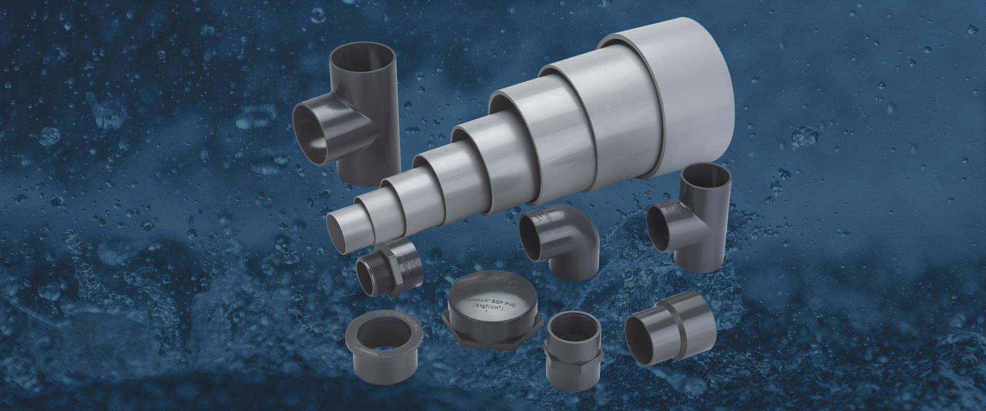 "uPVC Pressure Pipes Fittings, We offer all types of uPVC Pressure Fittings from 2"" to 4"" as per  IS Standards"